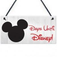 Wholesale FOAM PLAQUE - 200X100 - Chalkboard Days Until Disney from china suppliers