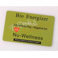 Wholesale Nano scalar negative ions Bio FIR energy card from china suppliers