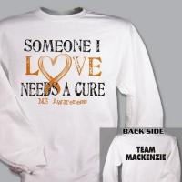 Wholesale Personaized Needs A Cure Multiple Sclerosis Awareness Sweatshirt from china suppliers