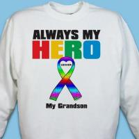 Wholesale Personalized My Hero Autism Awareness Sweatshirt from china suppliers