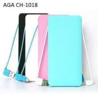 Best 8000mAh Wallet Size Power Bank With Bulid-in Cable wholesale