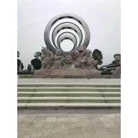 Buy cheap Modern Sculptures Round Glossy Art Steel With Good Price from wholesalers