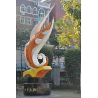 Buy cheap Outdoor Landscape Giant Installed Egret School Metal Statue from wholesalers