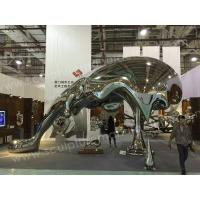 Buy cheap Amazing Modern Sculptures Carved Stainless Steel Dolphin Animal Sculpture from wholesalers