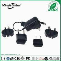 China Universal Interchangeable Plug Power Adapter 12V 1 Amp Power Supply Adapter on sale