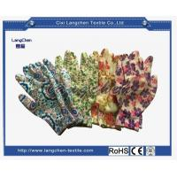 13G 100% Polyester Dipped Gardening Glove for sale