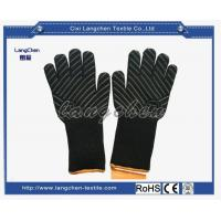 100% Aramid Heat Resistant Glove Black Color for sale