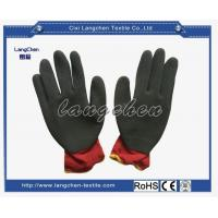 13G 100% Polyester Latex Coated Glove for sale