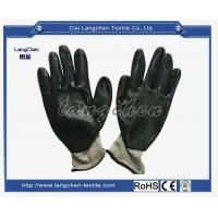 13G 100% Polyester Gray Liner Nitrile Coated Glove for sale