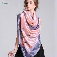 Buy cheap Printed Silk Scarf New Style Fashion Silk Square Scarf/100% Silk Satin Colorful Printed Scarves from wholesalers