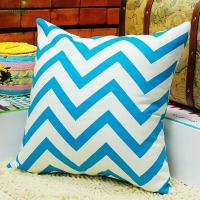 Buy cheap Cushion Cover Manufacturer Supplies OEM Sevrice 100% Cotton Chervon Cushion Cover from wholesalers