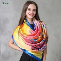 Buy cheap Silk Scarf Factory Make Custom Printed Silk Satin Scarf Wholesale Cheap Price from wholesalers