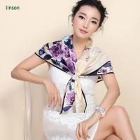 Buy cheap 2017 spring 135*135cm or customized printed silk satin square scarf from wholesalers