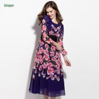 Wholesale Custom Floral Printed Polyester Georgette Fabric Wholesale from china suppliers