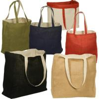 Wholesale Jute Bags Reversible Jute Cotton Tote Bags from china suppliers