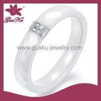 Gus-CMR-027Ceramic and Silver Jewelry Ring
