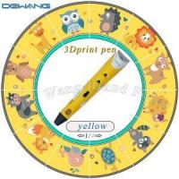 China Yellow Safe three dimensional printing pen / 3D Air Pen For Children on sale