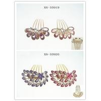 China Boutique Alloy Rhinestone Wedding Hair Combs on sale