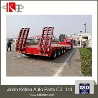 Buy cheap Hot Sales 4 Axles 80 Tons Heavy Duty Lowbed Semi Trailer from wholesalers