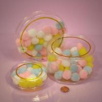 Round shaped Pop-up Tubes are made of a high clarity plastic material for sale
