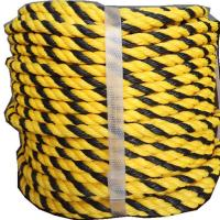 Buy cheap Black Yellow 9mm Diameter Pe Tiger Rope As Warning Sign from wholesalers