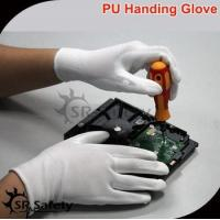 SRSAFETY cheap price/13g nylon electonic work gloves PU coating hand gloves for sale