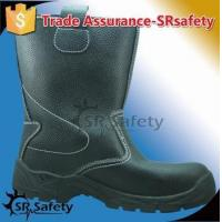 SRSAFETY high quality emboss cow split leather safety boots made in china for sale