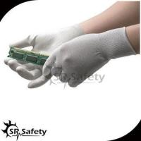 SRSAFETY 13g nylon & carbon PU coated ESD palm fit gloves for sale