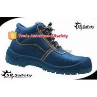 SRSAFETY 2015 autumn high quality emboss cow split leather safety shoes,safety equipment for sale