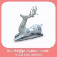 Wholesale White Procelain Ceramic Christmas Deer from china suppliers