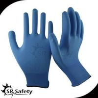 13 gauge knitted nylon liner coated water-based PU on palm gloves for sale