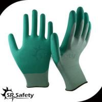SRSAFETY 13 gauge knitted nylon liner coated water-based PU palm gloves safety working gloves for sale
