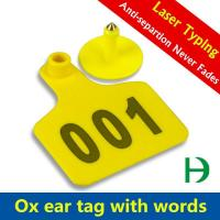China NE-W-01 Laser Engraving Cattle Ear Tag on sale