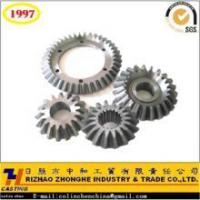 Wholesale precision casting cast iron steel cast bevel gear from china suppliers