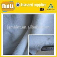 2014 soft snow-white polyester coral fleece fabric for blankets pajamas sleeping bunk