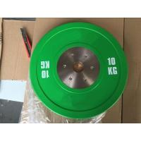 Wholesale 10KG Green Competition Bumper Plate from china suppliers