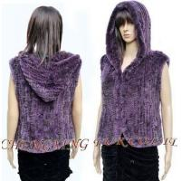 Wholesale CX-G-B-06 2015 Hoodies Knitted Rex Rabbit Fur Vest from china suppliers