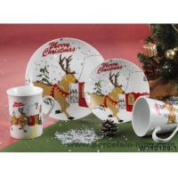 Wholesale Dinner set Breakfast dinner set- x'mas printing from china suppliers