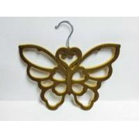 butterfly shape , with flocking surfacing ABS plastic scarf hanger