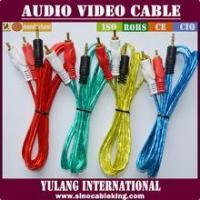 Wholesale transparent 3.5mm stereo male to 2RCA male audio cable for Egypt market YL888211 from china suppliers