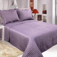 Plain Color Microfiber Embroidery Design Washed Bedspread