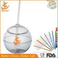 Wholesale 20 oz BPA FREE straw cup in ball shape from china suppliers