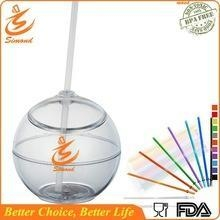 Quality 20 oz BPA FREE straw cup in ball shape for sale