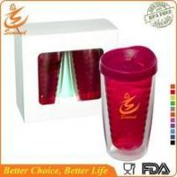 Buy cheap 16oz wholesale double wall plastic tumbler with lid and straw from wholesalers