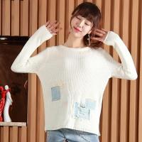 Buy cheap 2016 Fashion Patched Knitted Ladies Knitted Top from wholesalers
