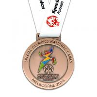 Buy cheap Gold silver bronze sports award medallion custom metal medals from wholesalers