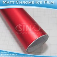 Wholesale Matt Chrome Metallic Red Car Body Wrap from china suppliers