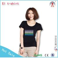 Battery electric t shirt el Flashing t shirt t shirt with panel