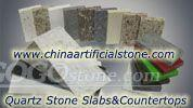 China Quartz Stone slabs and countertops for sale