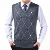 China Men's wool knitted vest on sale